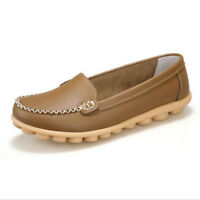 Fashion Women Ladies Soft Leather Formal Casual Ballet Slip On Loafer Flat Shoes