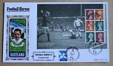 Football Heroes Dave Mackay Booklet Pane 2014 Benham FDC Glasgow Handstamp