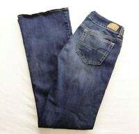 New American Eagle Womens Sz 4 X 32 Regular Artist Stretch Dark Wash Denim Jeans