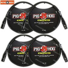 4-Pack Pig Hog 3-Pin 3 ft DMX Cables Shielded Stage Lighting Data Cable