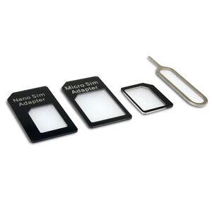 10x Small Mini Micro Nano Sim Card Adaptor Adapter Converter + Eject Pin