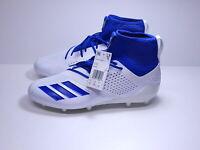 Adidas AdiZero 5-Star 7.0 SK White/ Royal Blue Football Cleats Size 12.5 NWT