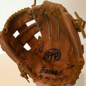 "Franklin Baseball Mitt Glove Softball Youth Brown Left Hand RHT 4609 9.5"""