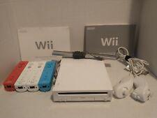 """Nintendo Wii """"Bundle"""" (RVL-001) 23 Games, Cables, 4 remotes, 2 nunchucks"""