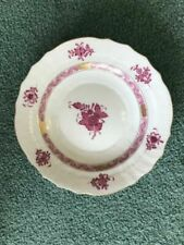 Herend Chinese Bouquet Raspberry Porcelain Salad Plate 1 Count