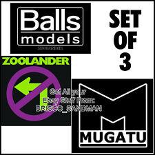 """Fridge Fun Refrigerator Magnet ZOOLANDER """"LOGOS-SET OF 3"""" Ben Stiller Mugatu"""