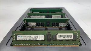 LOT 4 SAMSUNG KINGSTON 8GB 1Rx4 DDR4 PC4-2133P-R 17000 ECC REG SERVER MEMORY RAM