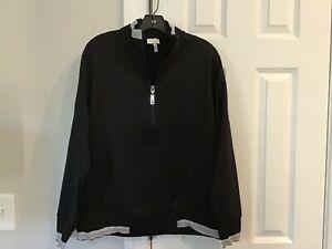 ESCADA SPORT Black Zipper Jacket XL Sparkle Trim