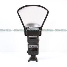 Universal Flash Diffuser Softbox Silver/White Reflector for Speedlite/Speedlight
