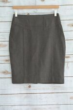 Express - Taupe-BROWN pieced BUCKLE back, Straight pencil skirt, size 2