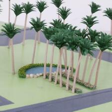 PACKAGE of 20PCS MODEL COCONUT PALM TREES HO O SCALE TRAIN LAYOUT 12CM