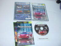 PROJECT GOTHAM RACING game complete w/ Manual (platinum Hits) for Microsoft XBOX