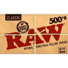 Raw Classic Natural Unrefined 1 1/4 500 Pack Rolling Papers 500's USA Shipped