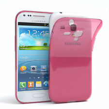 Ultra Slim Cover für Galaxy S3 Mini Case Silikon Hülle Transparent Pink