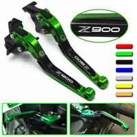CNC Adjustable Folding Extendable Brake Clutch Levers For KAWASAKI Z900 Z900RS