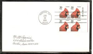 US SC # 2480 Cardinal FDC. Block Of 4.Ready For Cachet