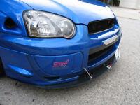 Subaru Impreza STI Front Bumper Winglets Blobeye JDM OEM blue 2003-2005