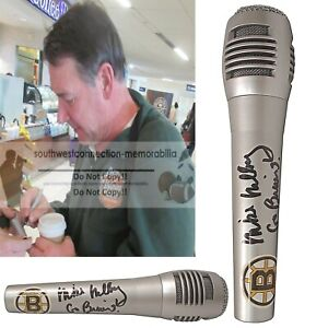 Mike Milbury Bruins Hockey Announcer Autograph Signed Microphone Mic Exact Proof