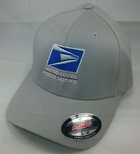 USPS FLEXFIT Embroidered Flexfit Baseball Hat Yupoong / SILVER GRAY / USPS1