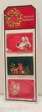 Vintage Eureka Paper Magic Pack of 21 Christmas Graphics Gift Tags NIP