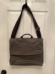 Jack Spade Messenger Bag Olive Green Waxed Canvas Warren Street New York