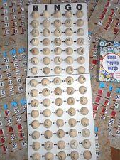 """WOOD BINGO BALL "" BINGO KIT (MASTERBOARD, CALLING CARDS, 10 BINGO SHUTTER CARDS"