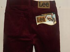 "LEE CORDUROY VINTAGE 70's DEAD STOCKS JEANS W26"" L36"" (ORIGINAL) 281"