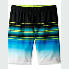 New Under Armour Youth Boys Swim Trunks Shorts Size YMD Blue/Black MSRP $38.00