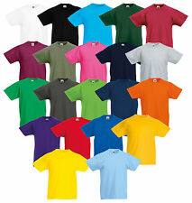 FRUIT OF THE LOOM T-SHIRT BAMBINI ORIGINALE Maglietta div. mod. COLORI 104-164