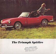 Catalogue TRIUMPH SPITFIRE 1964 Depliant brochure prospectus