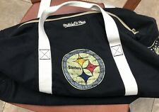 Pittsburgh Steelers Mitchell & Ness Vintage NFL Duffle Bag with Shoulder Strap