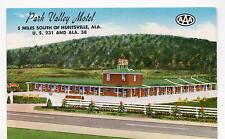 Huntsville AL Park Valley Motel Postcard 1950s