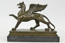 Bronze  by Roche Griffin Marble  Deco Mythical Figurine Sculpture Statue DEAL