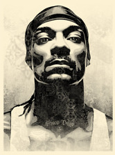 Snoop D-O Double G Obey 18x24 Shepard Fairey SIGNED LE 550 CONFIRMED