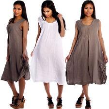 Leinene Markenlose Damenkleider für die Freizeit