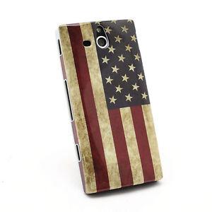 custodia cover va per SONY XPERIA U ST25i 25i ST25a americana america usa flag