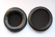 Oreja Cojines del amortiguador para Sony Mdr-v500dj 80 mm, almohadillas de cuero PU Negro * Nuevo