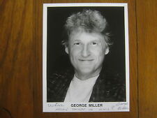 GEORGE  MILLER  (Died in 2003)   Comedian  Signed   8 X 10   B & W  Glossy Photo