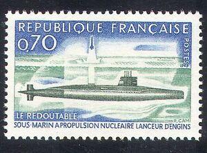 France 1969 Submarine/Navy/Nautical/Missile 1v (n23466)