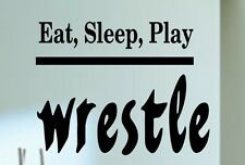Vinyl Wall Decal Eat Sleep Wrestle Kids Quote Art Removable vinyl Letters