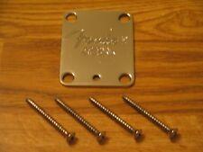 Fender USA Chrome Logo Stratocaster Telecaster Neck Plate