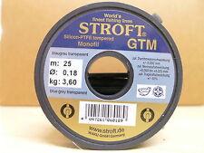 STROFT Vorfachmaterial GTM 25 Meterspule  0,18mm Durchmesser Tragkraft 3,6kg