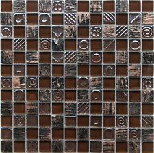 Sample Mixed Glass Mosaic Tile Roma  gh007