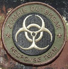 ZOMBIE HUNTER OUTBREAK RESPONSE TEAM BIOHAZARD TACTICAL FOREST CAM IRON ON PATCH