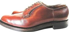 Saxone Men Shoes Genuine Leather Oxford Lace-Up Size 9.5 Brown Leather Soles