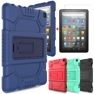 For Amazon Fire HD 8 2020/8+ 10th Gen Tablet Case Stand Cover / Screen Protector