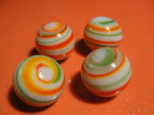 4 Handmade marbles from the church rummage sale