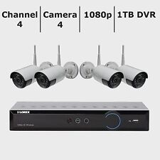 New Lorex 4-Channel 4-Camera 1080p Wireless Security System w/ 1TB HDD DVR