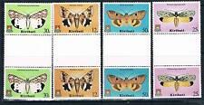 Kiribati 1980 Moths Gutter pairs SG 117/20 MNH