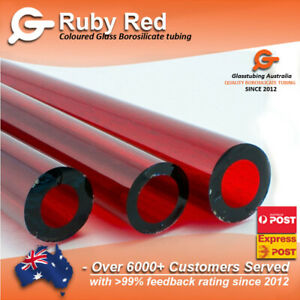 RED Glass Tubing  ULTRA RARE  borosilicate  blowing tubes pyrex NEW